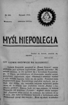 Myśl Niepodległa 1913 nr 230