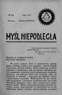 Myśl Niepodległa 1913 nr 232