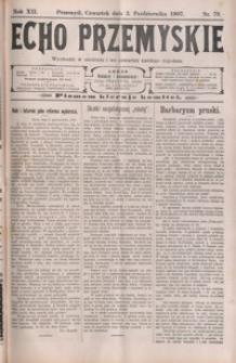 Echo Przemyskie : organ Stronnictwa Katolicko-Narodowego. 1907, R. 12, nr 79-87 (październik)