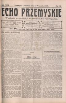 Echo Przemyskie : organ Stronnictwa Katolicko-Narodowego. 1908, R. 13, nr 71-78 (wrzesień)
