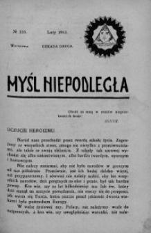 Myśl Niepodległa 1913 nr 234