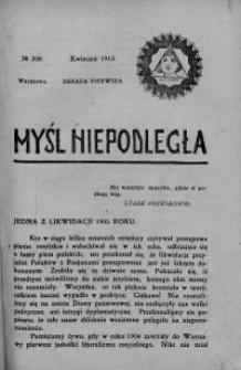 Myśl Niepodległa 1913 nr 238
