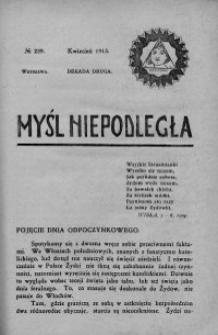 Myśl Niepodległa 1913 nr 239