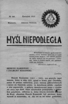 Myśl Niepodległa 1913 nr 240