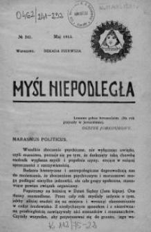 Myśl Niepodległa 1913 nr 241