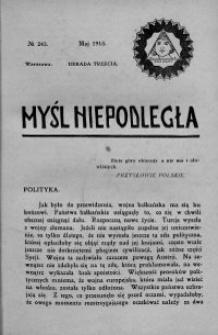 Myśl Niepodległa 1913 nr 243