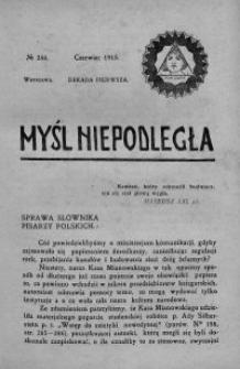 Myśl Niepodległa 1913 nr 244