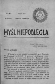 Myśl Niepodległa 1913 nr 247
