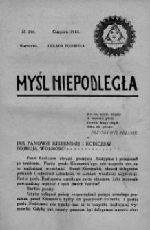 Myśl Niepodległa 1913 nr 250