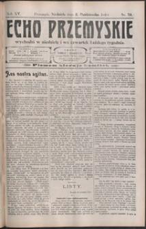Echo Przemyskie : organ Stronnictwa Katolicko-Narodowego. 1910, R. 15, nr 79-87 (październik)