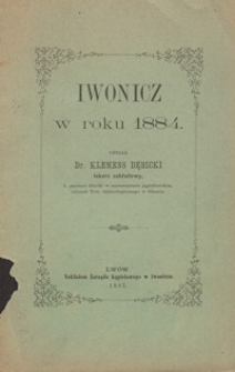 Iwonicz w roku 1884