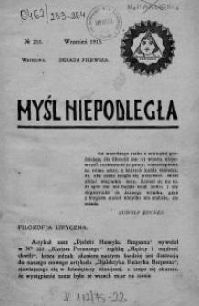 Myśl Niepodległa 1913 nr 253