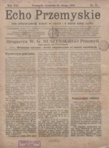 Echo Przemyskie : pismo polityczno-społeczne. 1916, R. 21, nr 12 (luty)