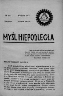 Myśl Niepodległa 1913 nr 254