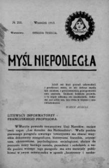 Myśl Niepodległa 1913 nr 255