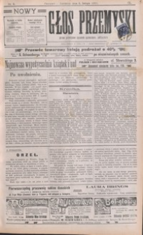 Nowy Głos Przemyski : pismo poświęcone sprawom społecznym, politycznym i ekonomicznym. 1910, R. 9, nr 6-9 (luty)