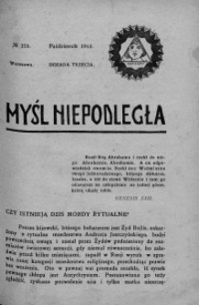 Myśl Niepodległa 1913 nr 258