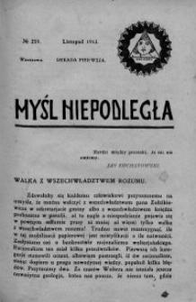 Myśl Niepodległa 1913 nr 259