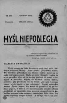Myśl Niepodległa 1913 nr 263