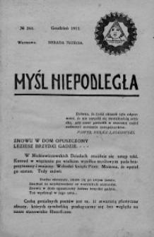 Myśl Niepodległa 1913 nr 264
