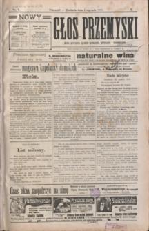 Nowy Głos Przemyski : pismo poświęcone sprawom społecznym, politycznym i ekonomicznym. 1911, R. 10, nr 1-5 (styczeń)