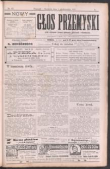 Nowy Głos Przemyski : pismo poświęcone sprawom społecznym, politycznym i ekonomicznym. 1911, R. 10, nr 43-46 (październik)