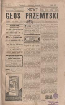 Nowy Głos Przemyski : pismo poświęcone sprawom społecznym, politycznym i ekonomicznym. 1913, R. 12, nr 1-4 (styczeń)