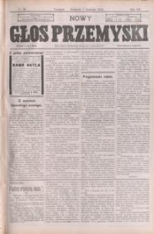 Nowy Głos Przemyski : pismo poświęcone sprawom społecznym, politycznym i ekonomicznym. 1913, R. 12, nr 36-37, 39 (wrzesień)