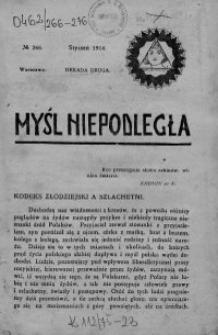 Myśl Niepodległa 1914 nr 266