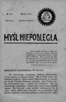 Myśl Niepodległa 1914 nr 273