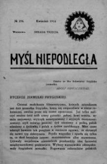 Myśl Niepodległa 1914 nr 276