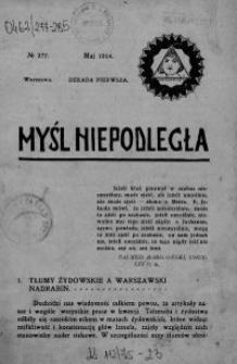 Myśl Niepodległa 1914 nr 277