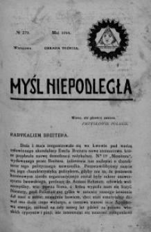 Myśl Niepodległa 1914 nr 279