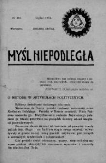 Myśl Niepodległa 1914 nr 284