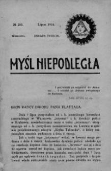 Myśl Niepodległa 1914 nr 285