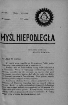 Myśl Niepodległa 1919 nr 438