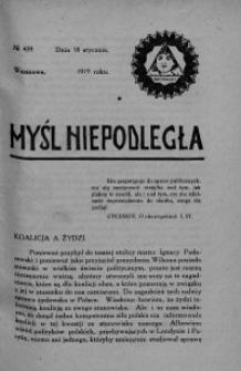 Myśl Niepodległa 1919 nr 439