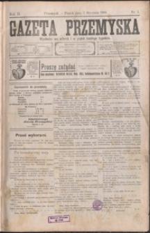 Gazeta Przemyska. 1908, R. 2, nr 1-9 (styczeń)