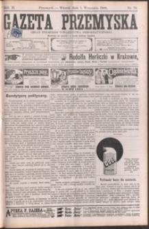 Gazeta Przemyska : organ Polskiego Towarzystwa Demokratycznego. 1908, R. 2, nr 70-78 (wrzesień)