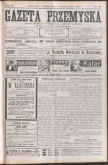 Gazeta Przemyska : organ Polskiego Towarzystwa Demokratycznego. 1908, R. 2, nr 79-87 (październik)
