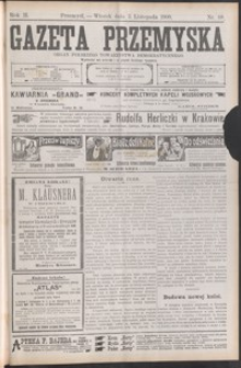 Gazeta Przemyska : organ Polskiego Towarzystwa Demokratycznego. 1908, R. 2, nr 88-95 (listopad)