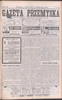 Gazeta Przemyska : organ Polskiego Towarzystwa Demokratycznego. 1909, R. 3, nr 79-87 (październik)