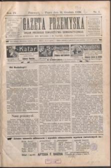 Gazeta Przemyska : organ Polskiego Towarzystwa Demokratycznego. 1910, R. 4, nr 1-9 (styczeń)