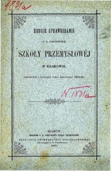 Sprawozdanie C. K. Państwowej Szkoły Przemysłowej w Krakowie za rok szkolny 1889/90
