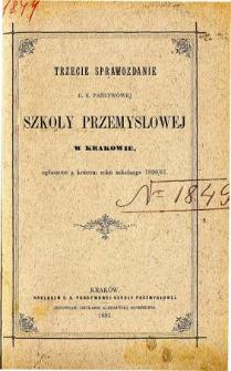 Sprawozdanie C. K. Państwowej Szkoły Przemysłowej w Krakowie za rok szkolny 1890/91