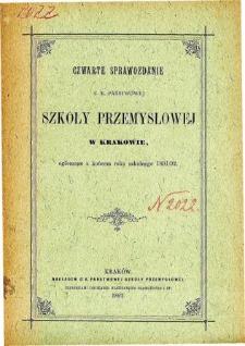 Sprawozdanie C. K. Państwowej Szkoły Przemysłowej w Krakowie za rok szkolny 1891/92