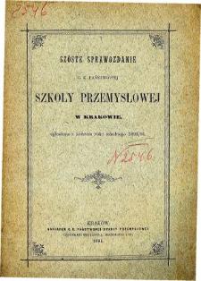 Sprawozdanie C. K. Państwowej Szkoły Przemysłowej w Krakowie za rok szkolny 1893/94