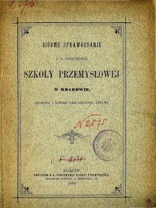 Sprawozdanie C. K. Państwowej Szkoły Przemysłowej w Krakowie za rok szkolny 1894/95