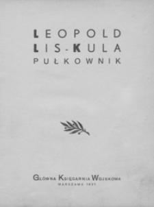 Leopold Lis-Kula pułkownik