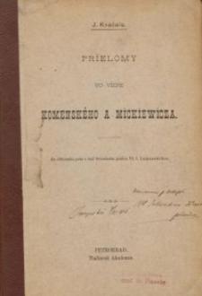 Prielomy vo viere Komenského a Mickiewicza / J. Kvačala